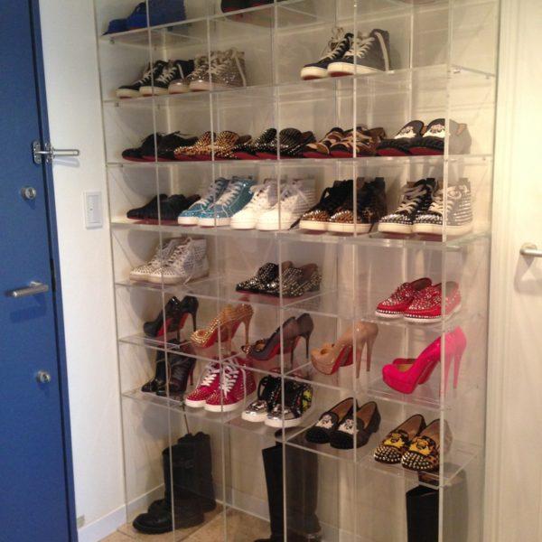 アクリル棚(靴)整理棚