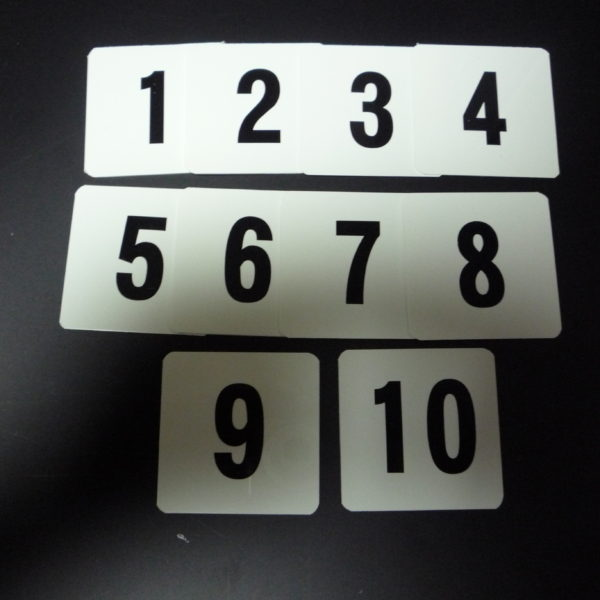 ペット樹脂数字板