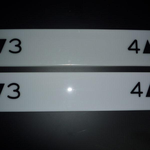 アクリル階段階数表示板