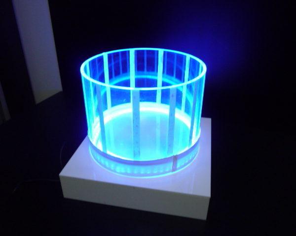 アクリルパイプ使用LEDオブジェ